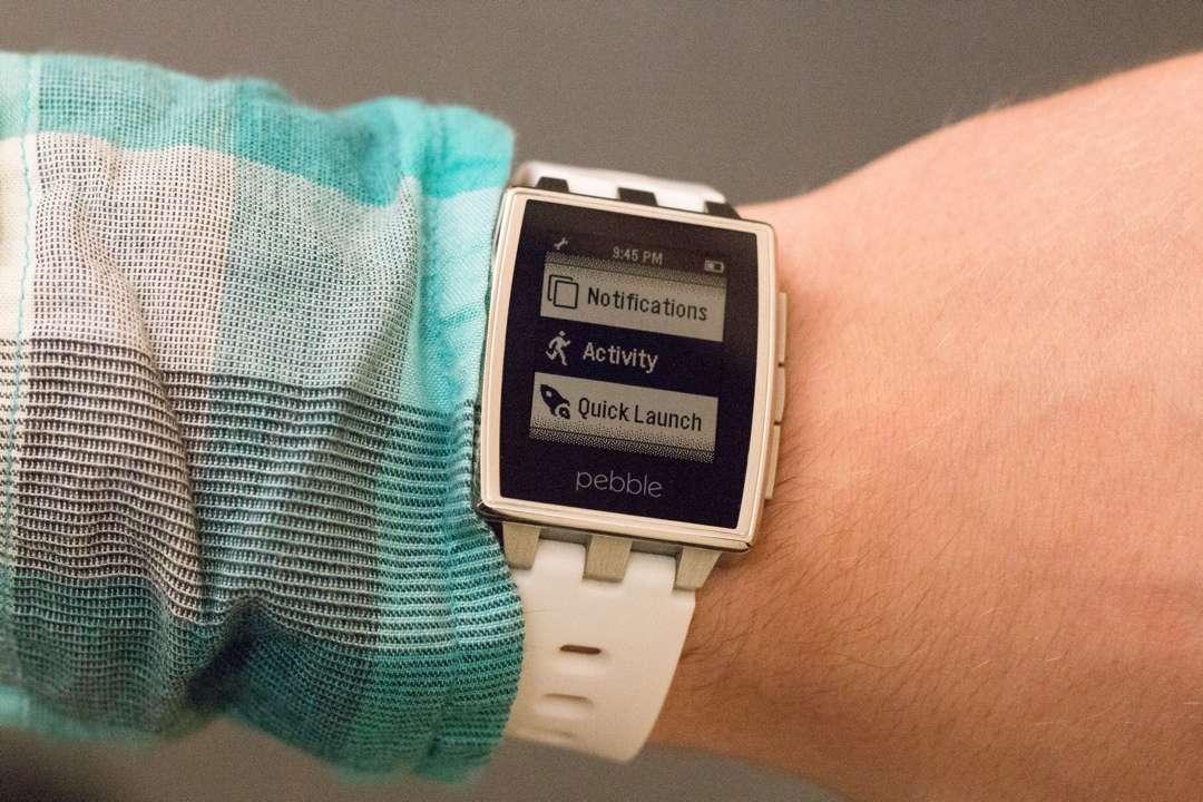 A companhia americana , ainda apresentou três novos aplicativos para saúde e bem-estar: Misfit, Up e Swim.com Foto: Pebble/Divulgação