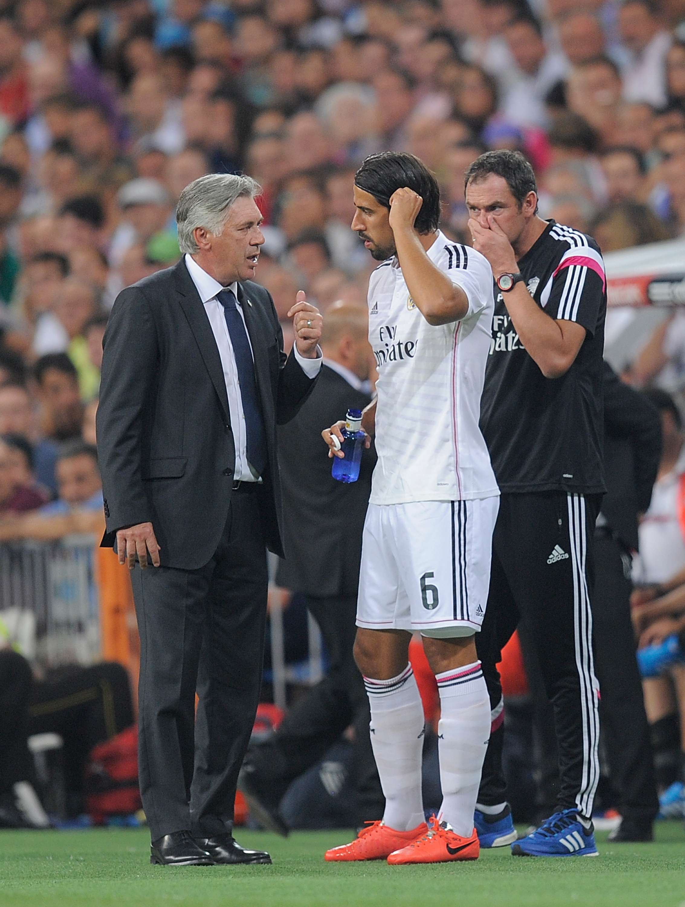 Ancelotti y Khedira. Foto: Getty Images