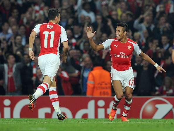 El partido se juega en Londres con Alexis Sanchez titular Foto: Getty Images