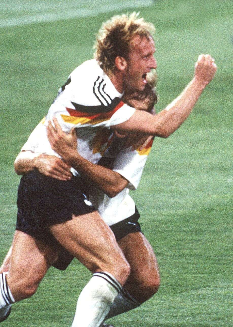 Andreas Brehme fez gol do título da Alemanha em 90 e agora vive dificuldades Foto: Getty Images