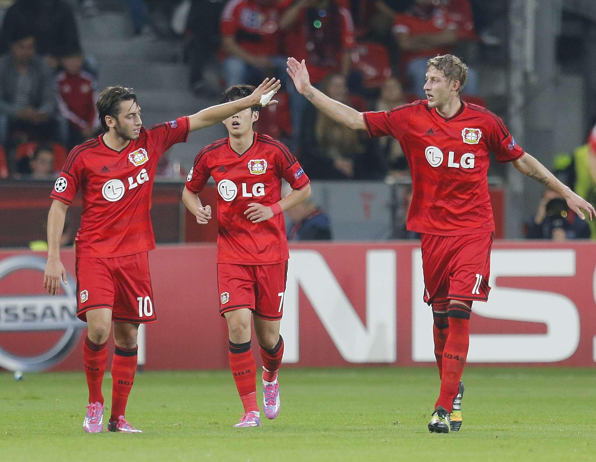 Bayer Leverkusen golea 3-1 al Benfica en Champions League. Foto: AP