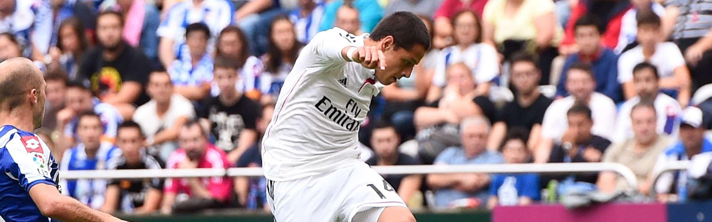 Javier Hernández ha marcado dos goles con Real Madrid. Foto: Getty Images