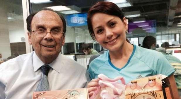 Hernán Peláez y Claudia Morales Foto: Twitter @ClaMoralesM
