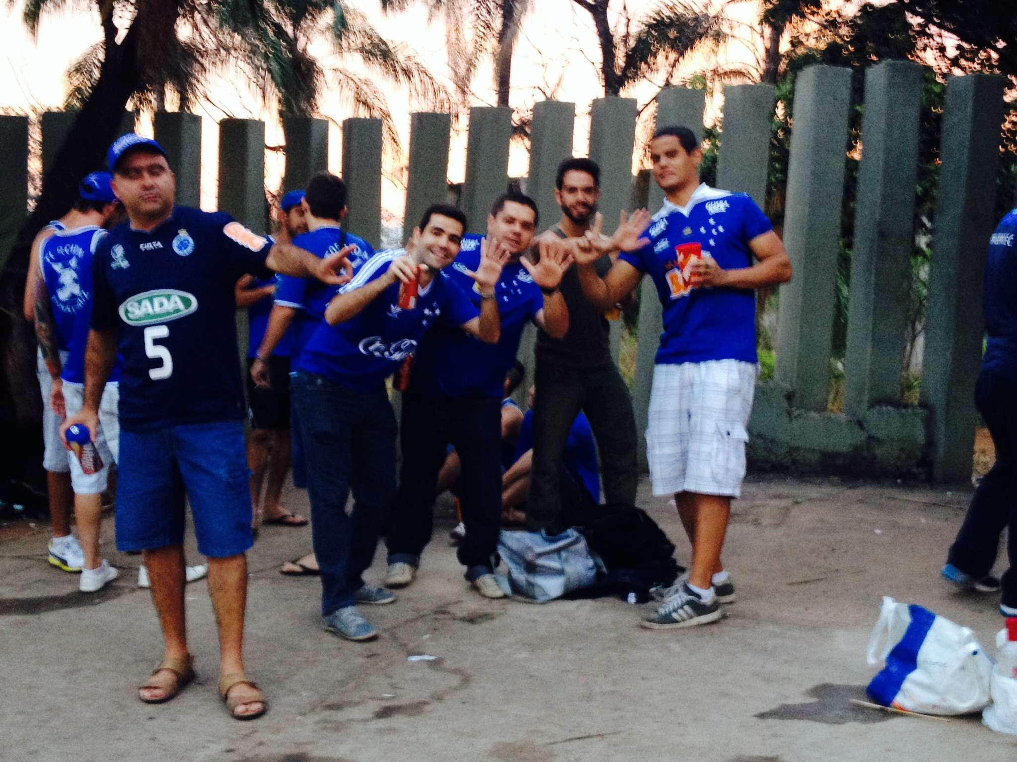 Torcedores do Cruzeiro lamentaram a punição Foto: Marcellus Madureira/Especial para o Terra