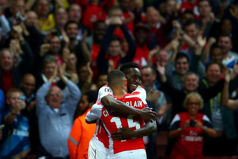 Danny Welbeck anotó tres goles para Arsenal en la victoria de 4-1 sobre Galatasaray. Foto: Getty Images