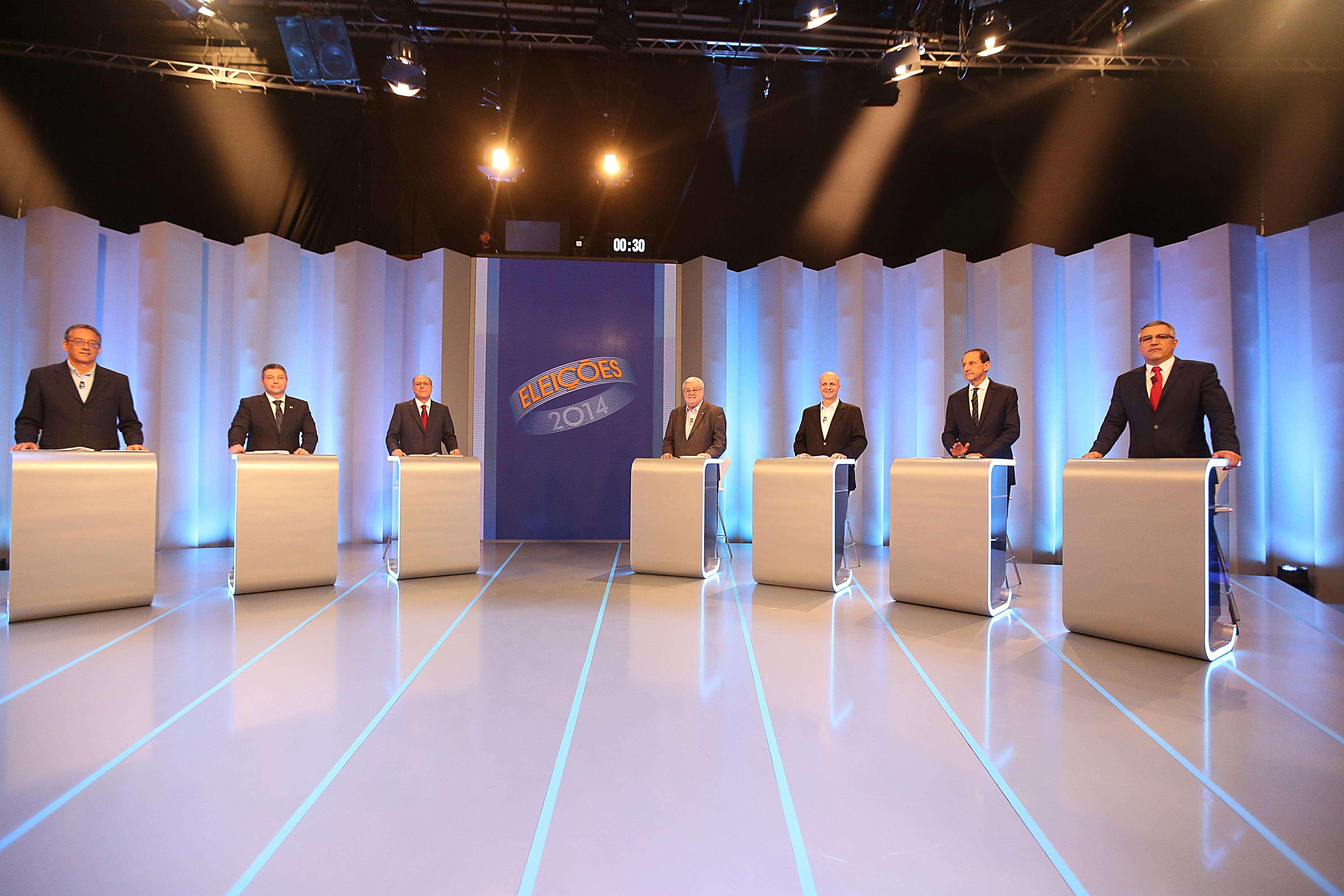 Candidatos participaram do debate da TV Globo nesta terça Foto: Paulo Pinto/Analítica/Divulgação