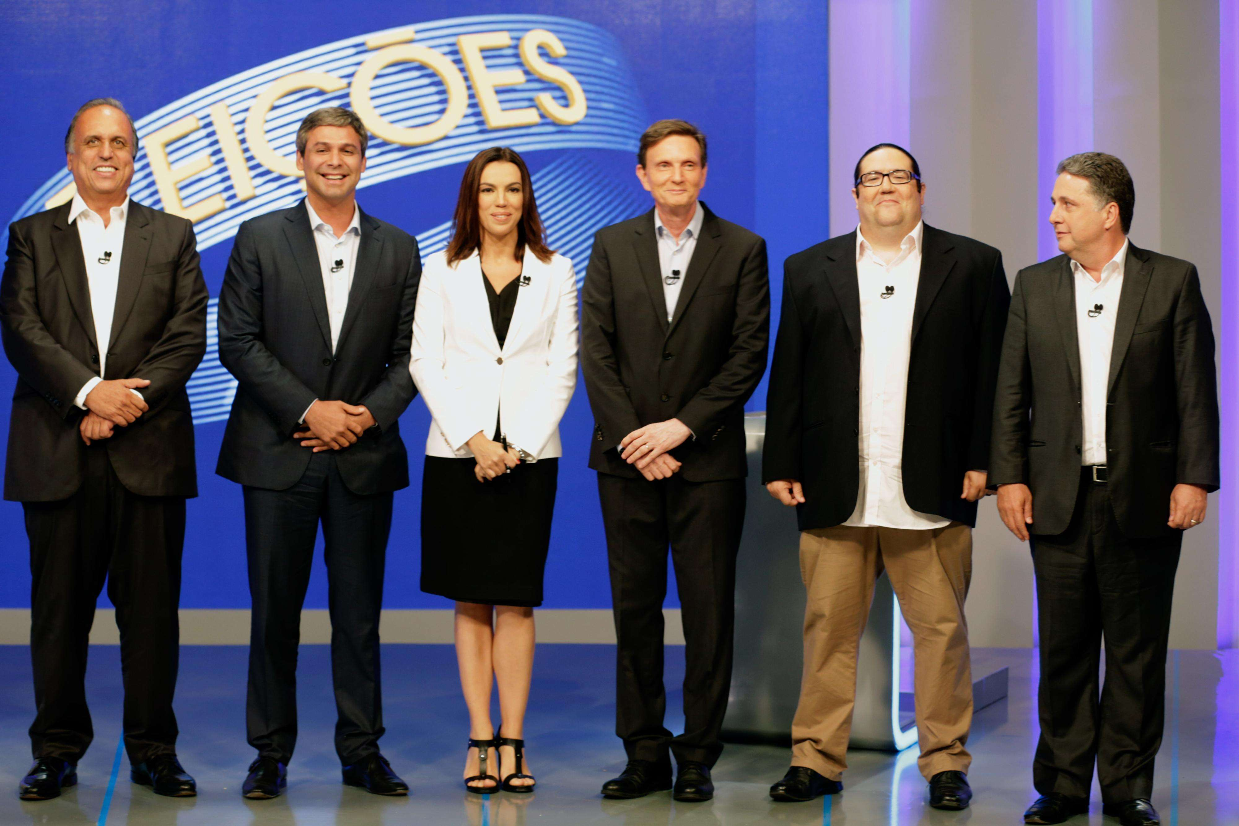 Debate ocorreu na noite desta terça, nos estúdios da TV Globo no Rio Foto: Antônio Pinheiro/Campanha Lindberg Farias/Divulgação