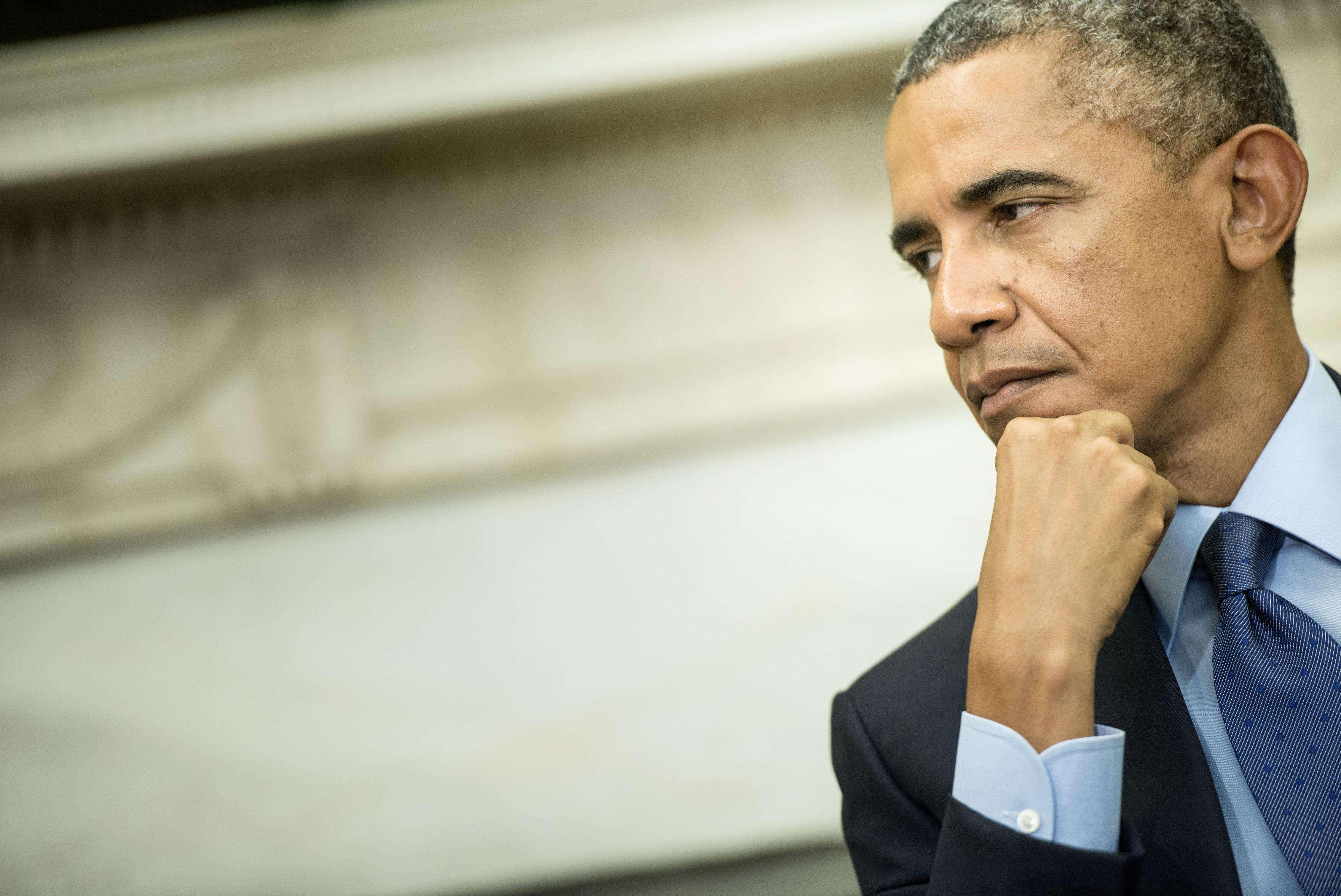 Obama teria andado em elevador com um homem armado e que já cometeu crimes Foto: BRENDAN SMIALOWSKI /AFP