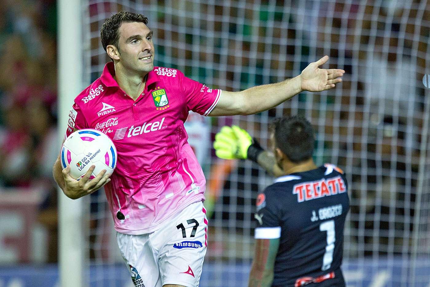 León vs. Monterrey: El argentino Mauro Boselli celebra el gol del empate ante Rayados. Foto: Imago 7