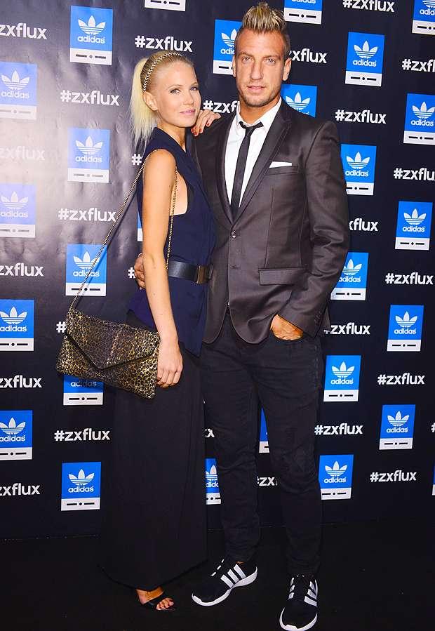 Maxi López, con Daniela Christiansson. Foto: Web