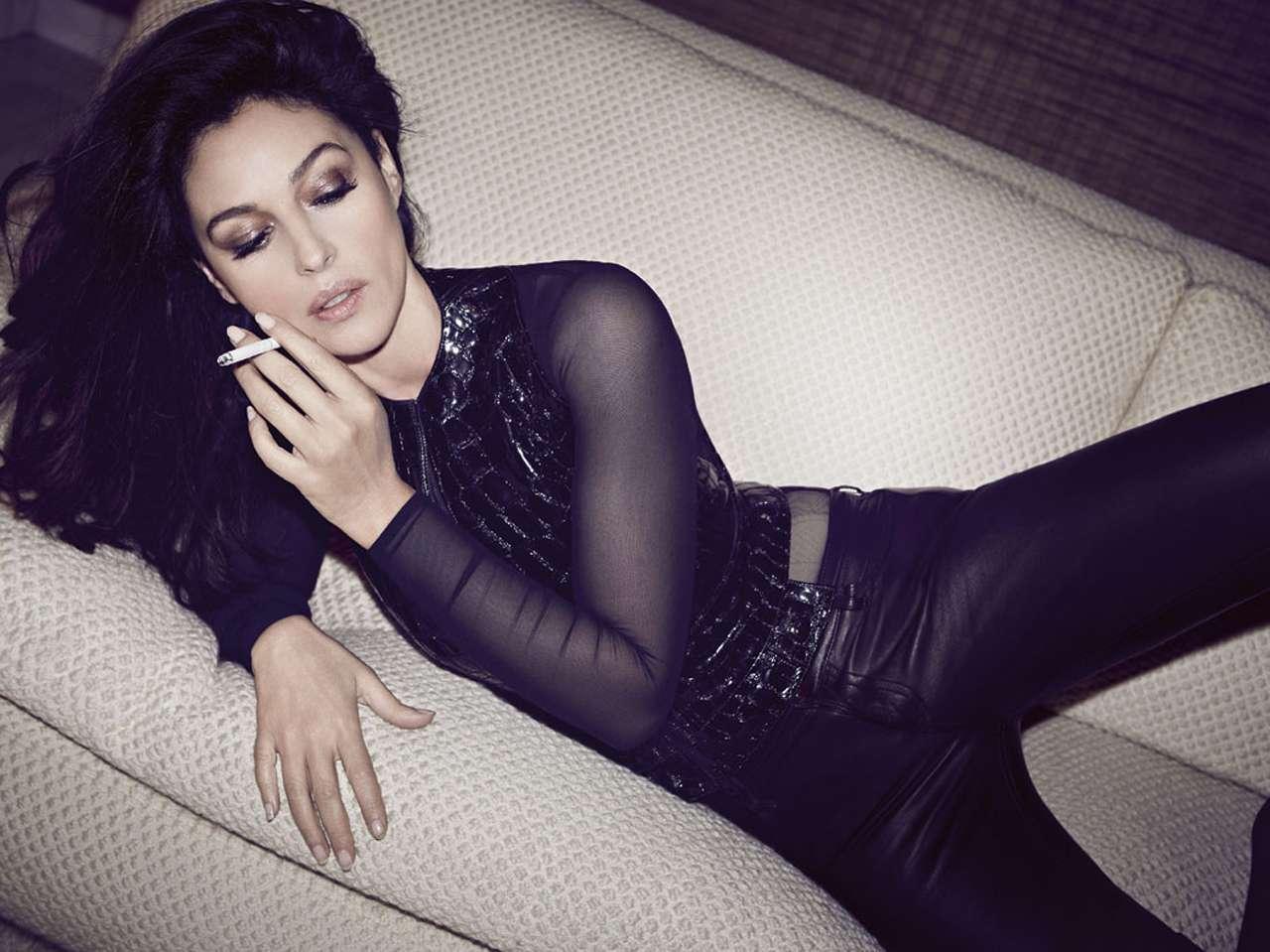 Diez famosas maduras de Hollywood que nos encantan - Monica Bellucci. Foto: Vanity Fair Magazine