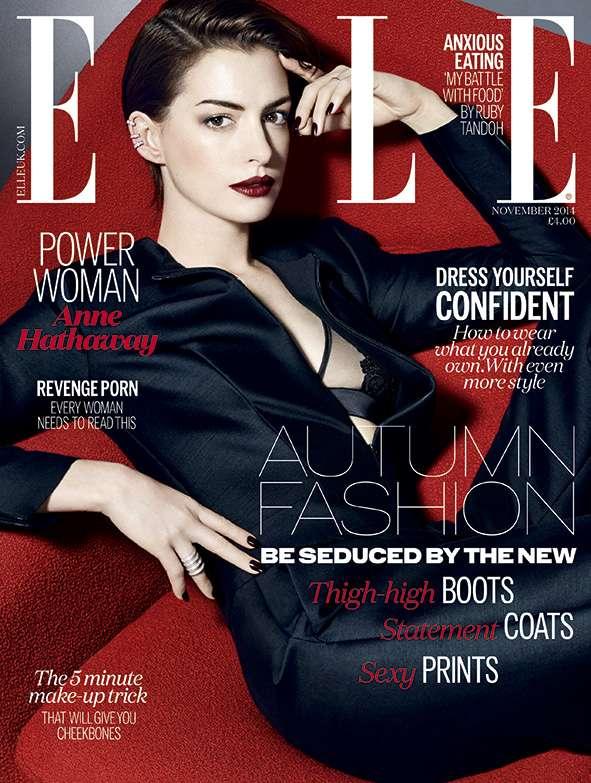 Anne Hathaway. Foto: Elle UK