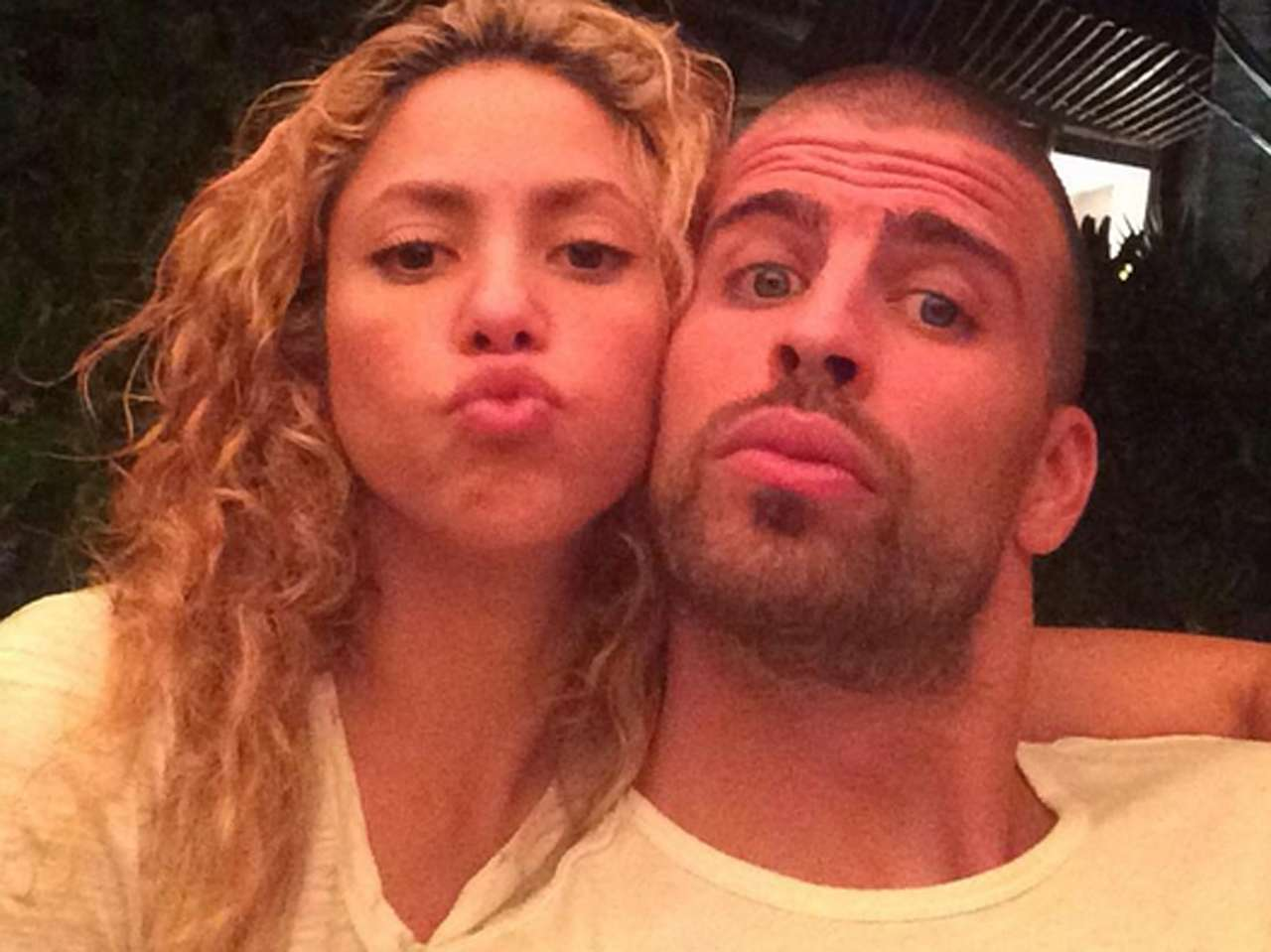 Shakira y Gerard Piqué. Foto: Twitter/@3gerardpique