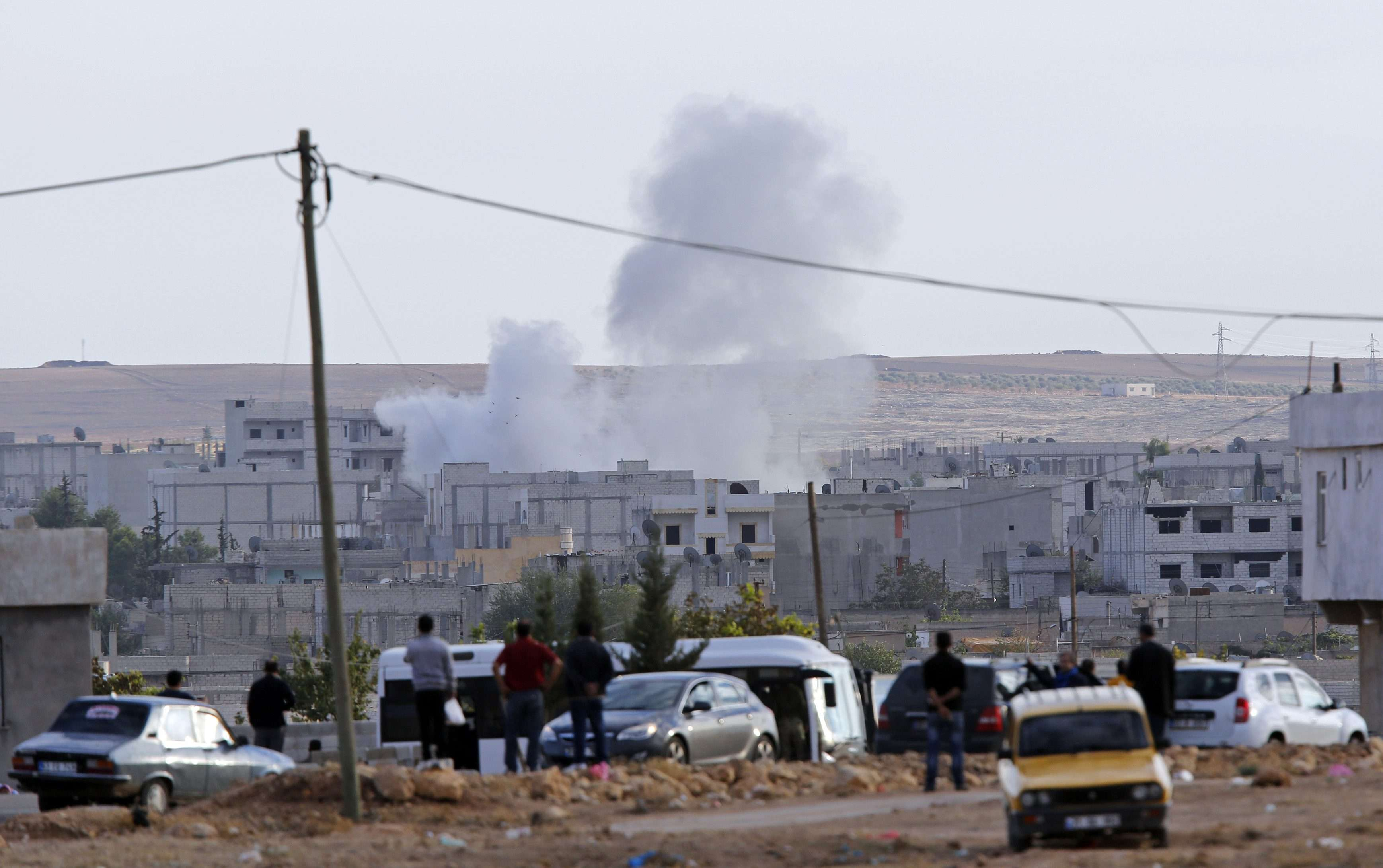 A cidade de Kobani apresenta alguns grupos de resistência aos ataques dos jihadistas Foto: Murad Sezer/Reuters