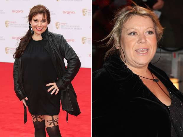 Atriz em 2014 e, em 2009, com quase 70kg a mais Foto: Getty Images