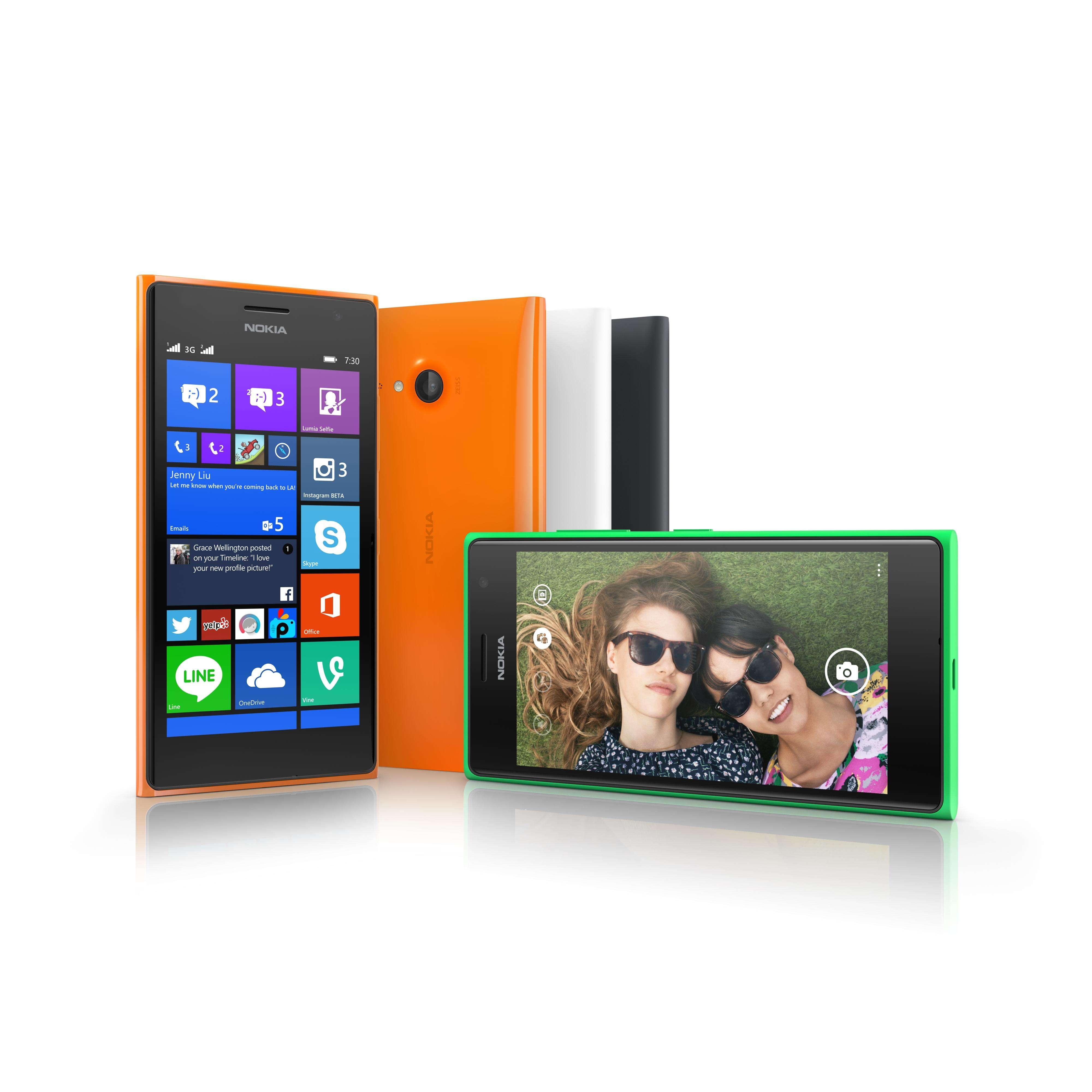 Lumia 730 Dual Sim e Lumia 735 Foto: Microsoft/Divulgação