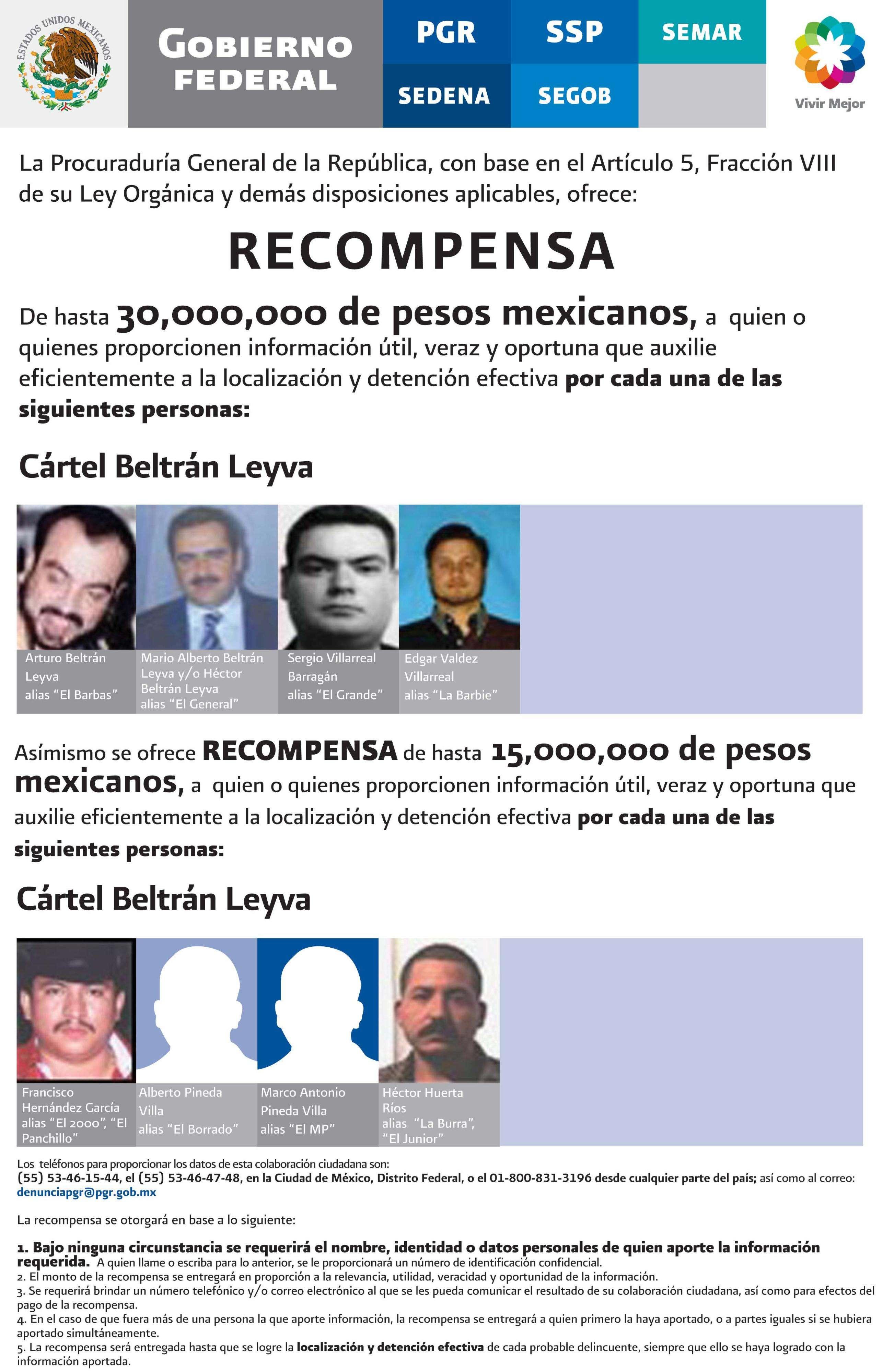 Los hermanos Beltrán Leyva y su violento cártel familiar Foto: AP en español