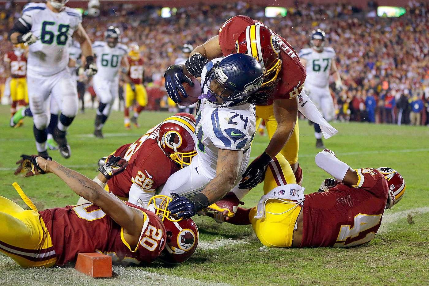 Juegos de la Semana 5 de la NFL 2014. Seattle Seahawks vs. Washington Redskins (Lunes por la noche). Kirk Cousins no es la solución para los Redskins como QB titular y ante Richard Sherman y la dura defensiva de los Seahawks lo volverá a demostrar. Los campeones de la NFL deberán ganar el partido por más de 10 puntos. Foto: AP
