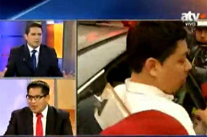 Periodista fue agredido por conductor aparentemente ebrio. Foto: ATV+