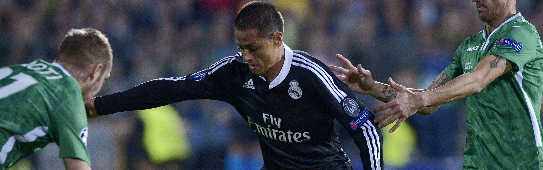 Javier Hernández tuvo un partido para el olvido con Real Madrid ante Ludorogets. Foto: AFP