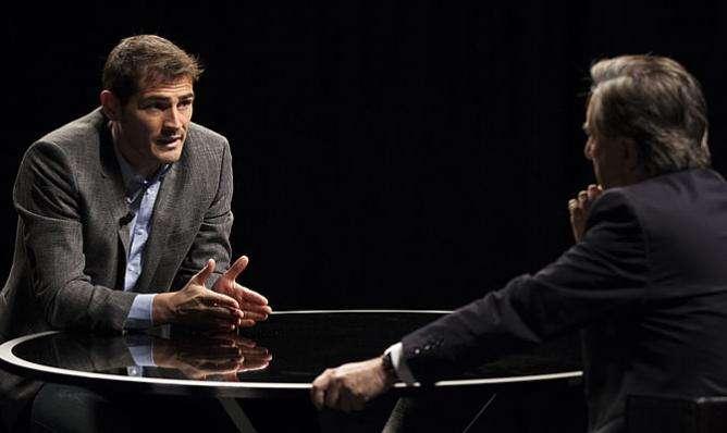 Casillas, durante la entrevista. Foto: Canal+