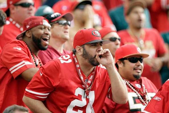 Los Fanáticos de los 49's de San Francisco se han visto en algunos problemas. Foto: Getty Images