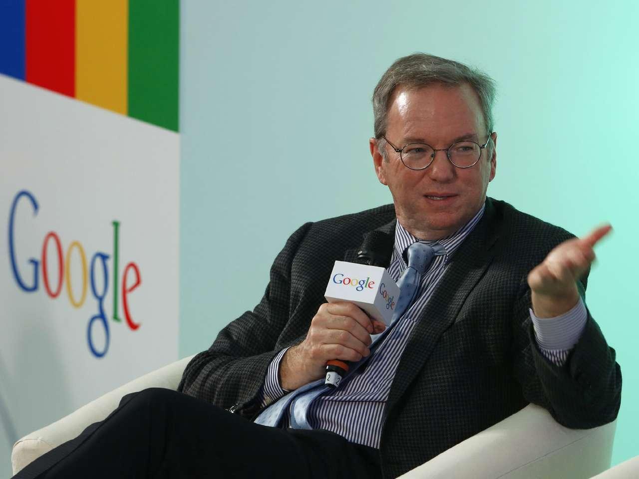 Eric Schmidt, presidente de la comisión de control de Google Foto: AP/Archivo