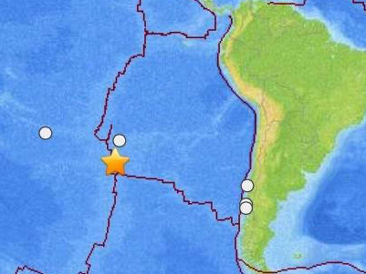 El sismo no reúne las condiciones para generar un tsunami en las costas chilenas. Foto: USGS
