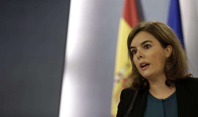La vicepresidenta del Gobierno, Soraya Sáenz de Santamaría. Foto: EFE en español