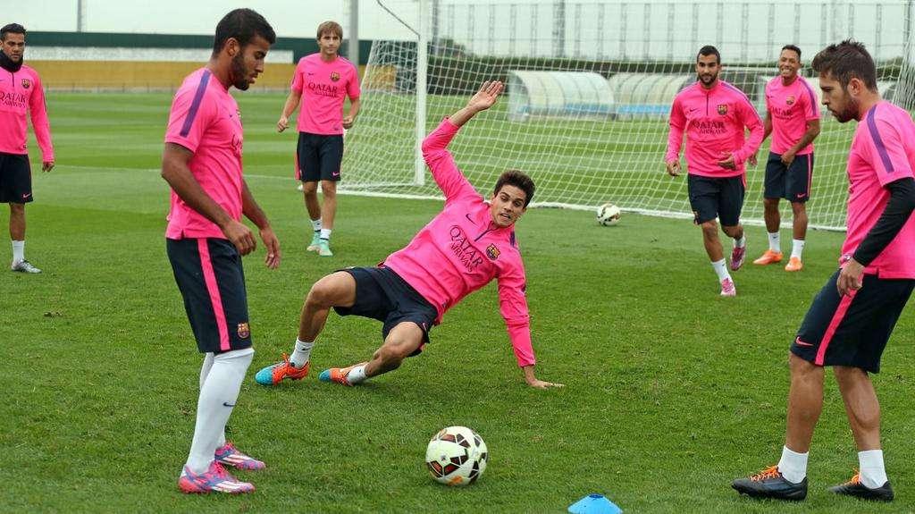 Entrenamiento del Barça. Foto: FC BARCELONA
