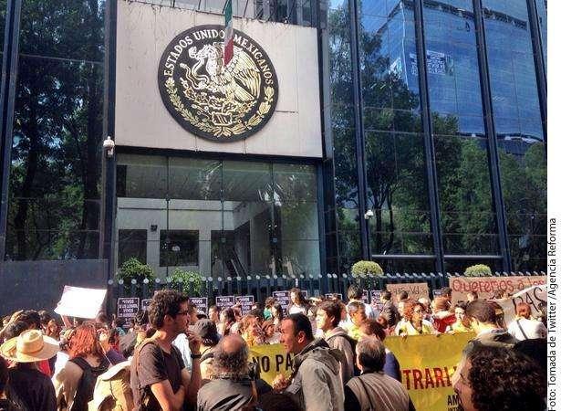 Protesta universitarios Foto: Agencia Reforma