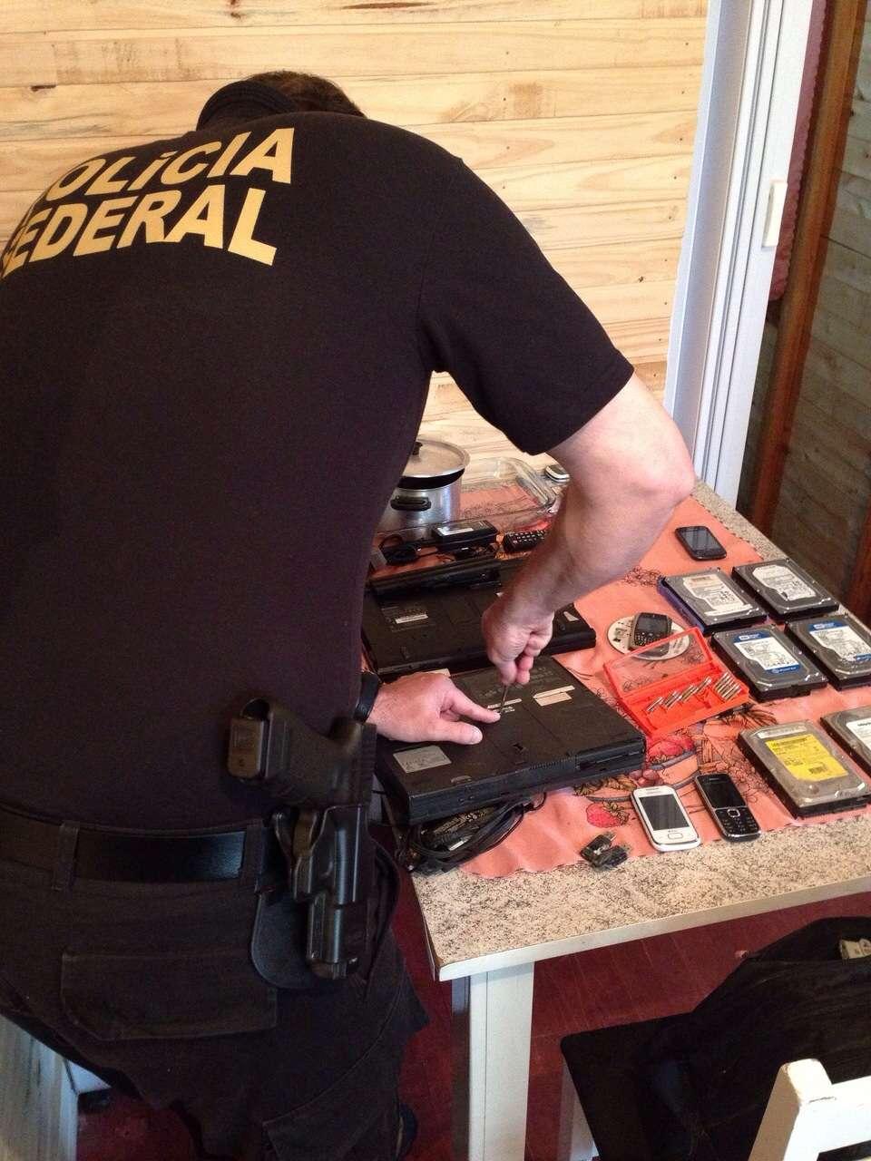 PF faz operação contra pornografia infantil em 18 Estados Foto: Polícia Federal/Divulgação