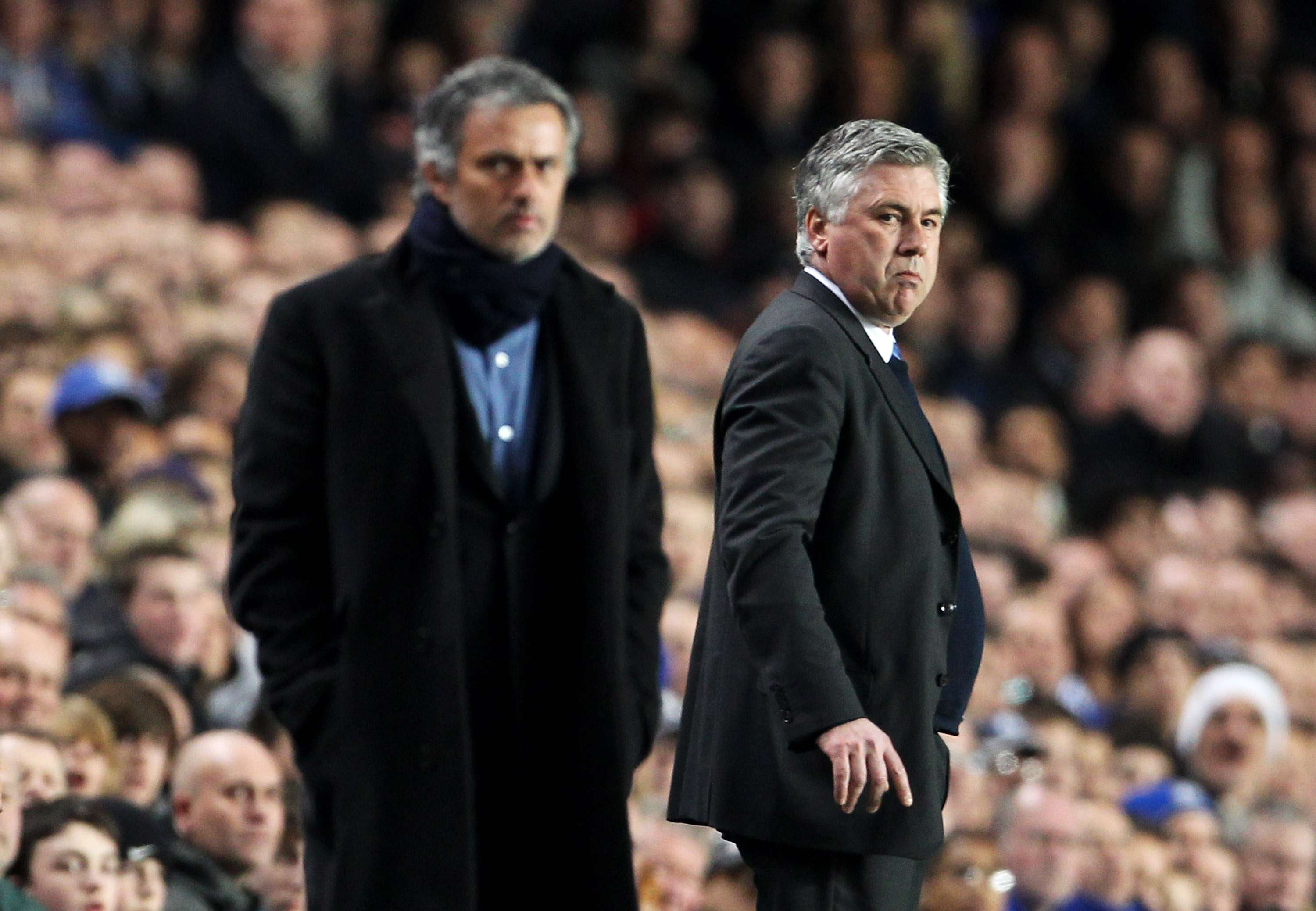 Mourinho y Ancelotti. Foto: Getty Images