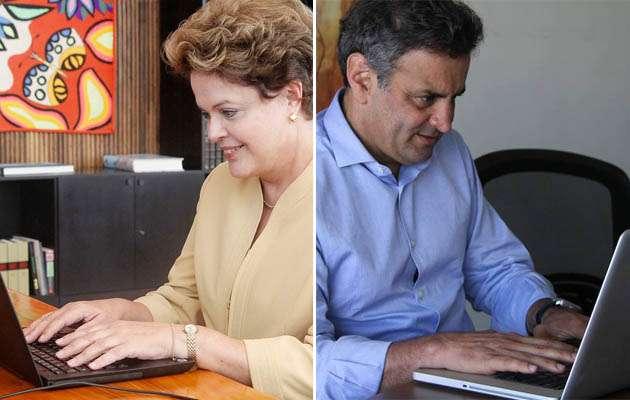 Das redes ao WhatsApp: Dilma e Aécio investem na tecnologia Foto: Divulgação