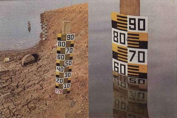 Imagem de medição na represa foi anexada ao relatório apresentado pela agência federal Foto: Divulgação