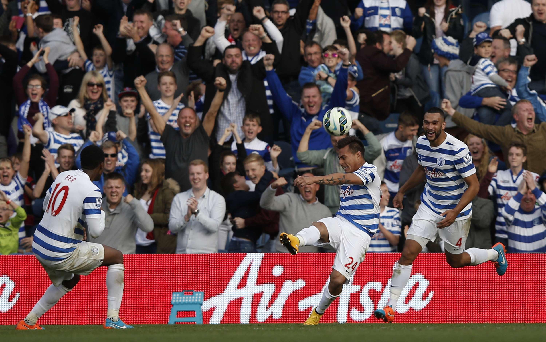 Eduardo Vargas anotó dos goles por el QPR. Foto: AFP en español
