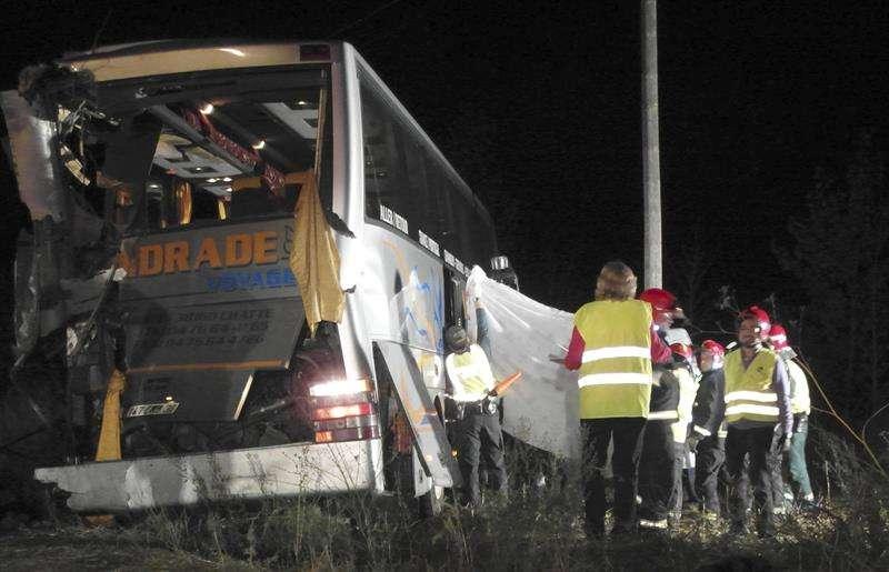 Tres personas han fallecido y varias han resultado heridas, cuatro de ellas graves, en un accidente de tráfico ocurrido al chocar dos autobuses en la autovía A-62 (Burgos-Portugal). Foto: EFE en español