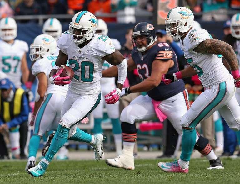 Chicago Bears regresó a las andadas luego del triunfo sobre Atlanta y cayó 27-14 con Miami Dolphins, que colocó su marca en tres derrotas y tres victorias. Foto: AFP