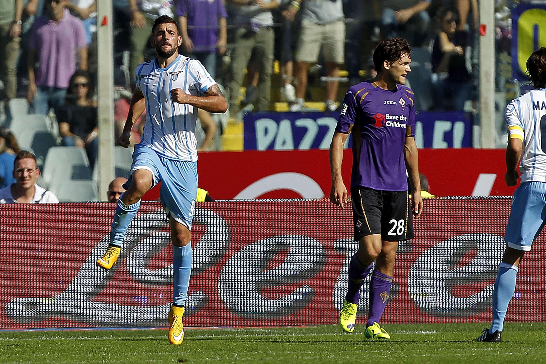 Djordjevic marcou o gol da vitória da Lazio Foto: Gabriele Maltinti/Getty Images
