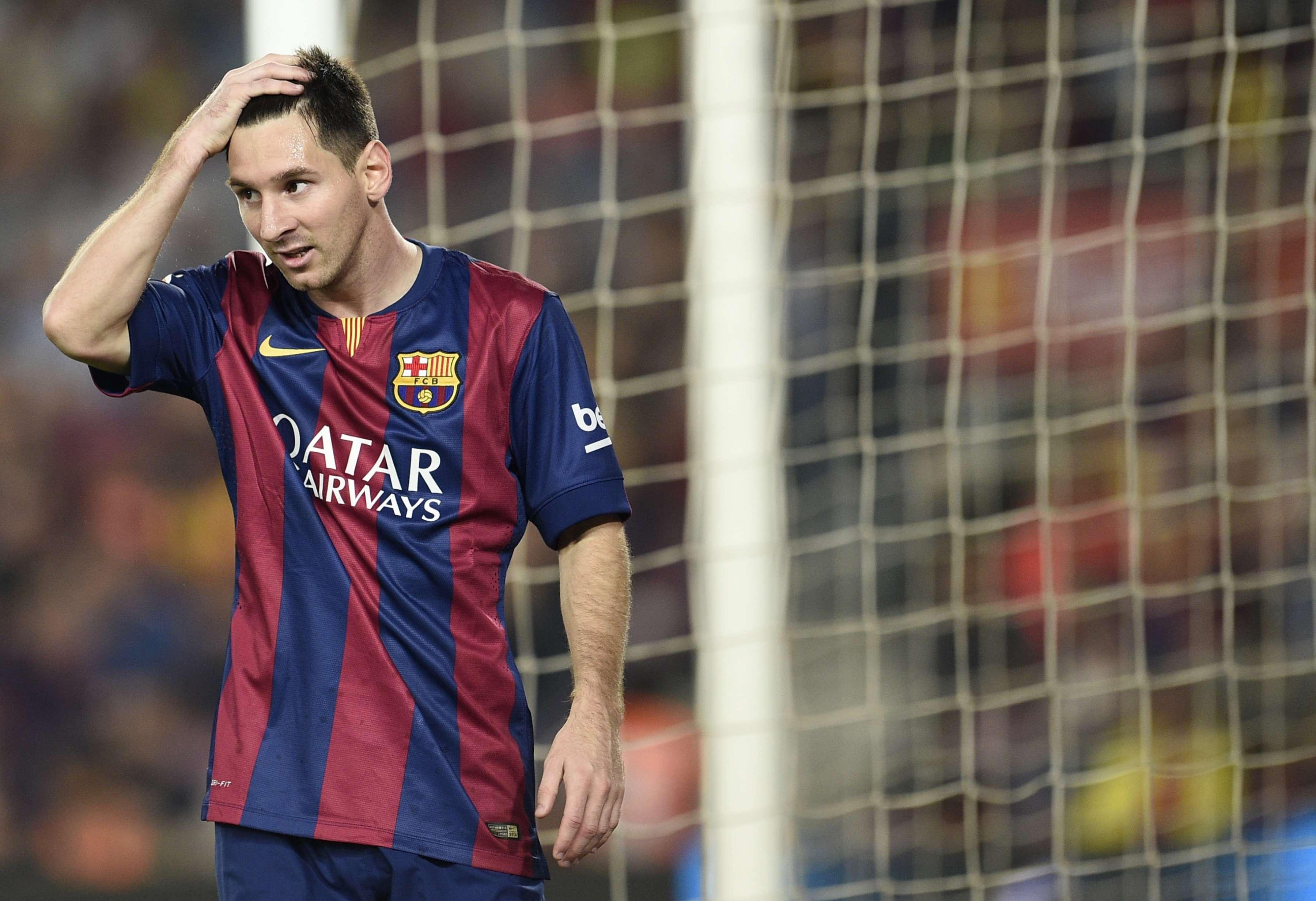 Messi teria ignorado ordem dada por Luis Enrique Foto: Lluis Gene/AFP