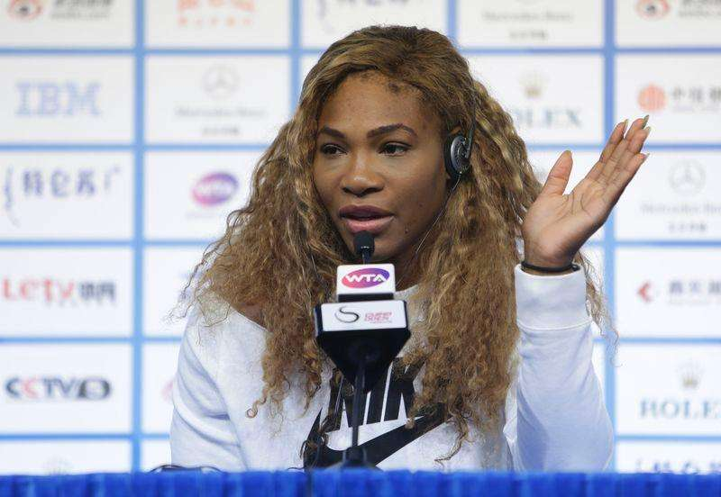 Serena Williams of the U.S. answers a question at a news conference at the China Open tennis tournament in Beijing, October 3, 2014. Foto: Jason Lee/Reuters