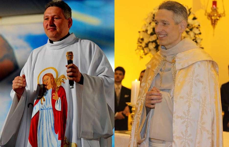 (Da esquerda para a direita) Padre Marcelo Rossi em 2012 e em 2013, já bem mais magro Foto: Edson Lopes Jr/Terra/Leo Franco e Thiago Duran/AgNews