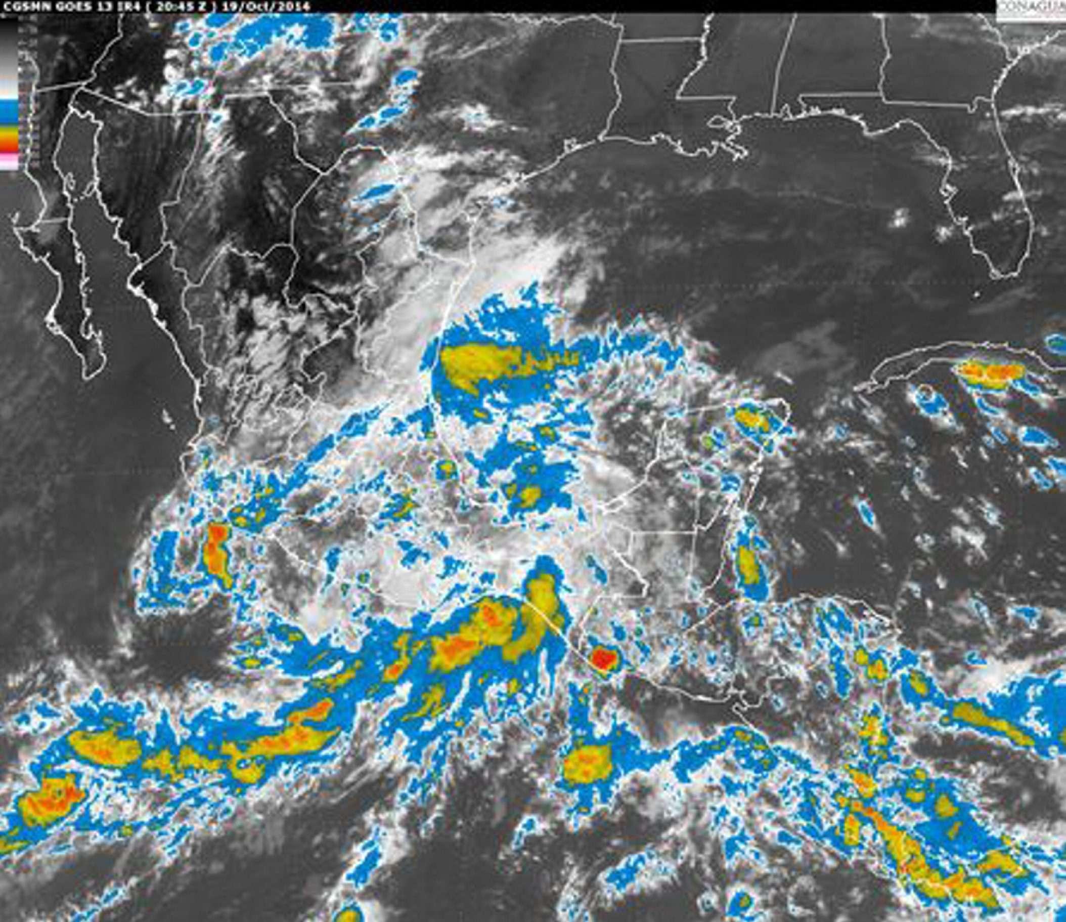 A los fenómenos meteorológicos existentes, se suman los remanentes de la tormenta tropical Trudy y dos canales de baja presión. Foto: SMN