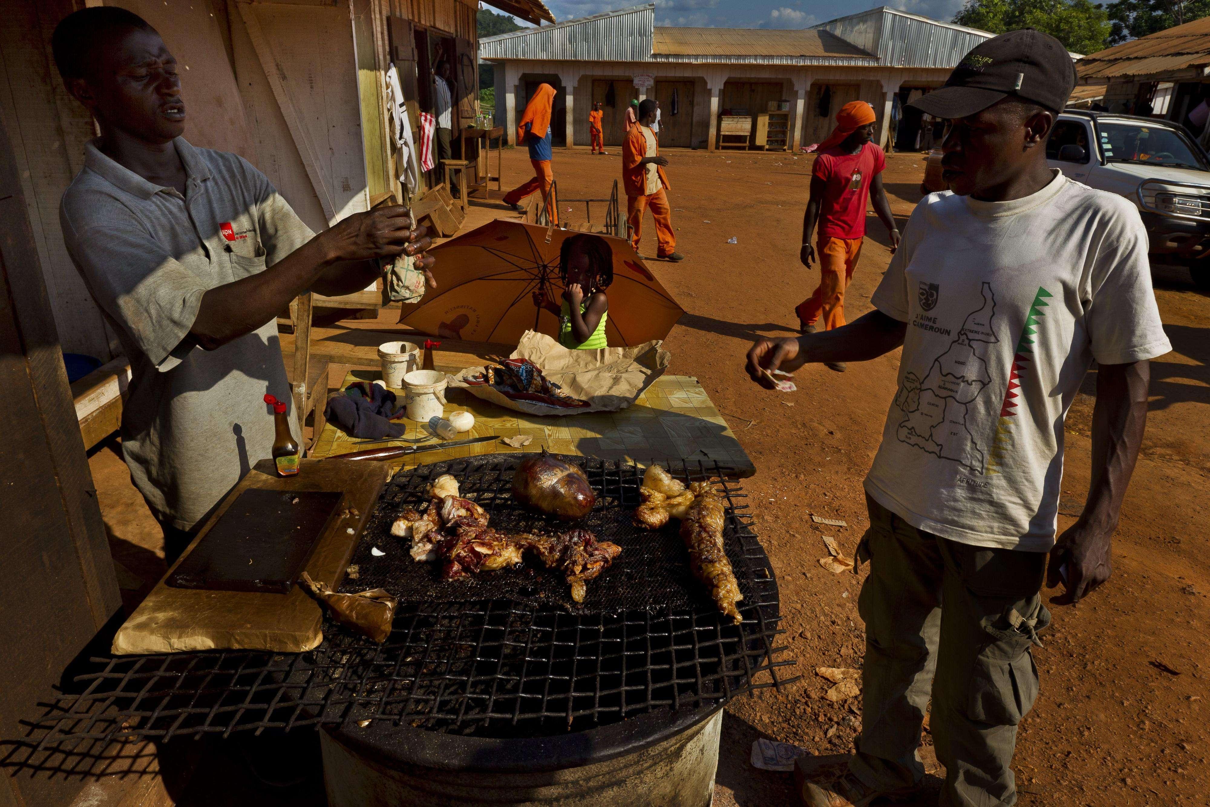 Carne de animais silvestres é bastante comum em países africanos que não têm recursos Foto: Brent Stirton/Getty Images