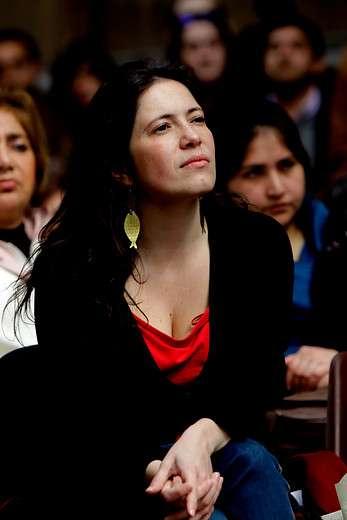 Presidenta del Colegio de Periodistas Javiera Olivares Foto: Agencia UNO