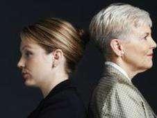 Do empresarias, espalda con espalda Foto: BBC Mundo/Copyright