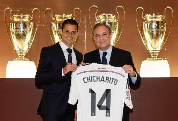 'Chicharito' podría ser uno de los conflictos de intereses de Florentino Pérez. Foto: Getty Images