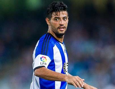Carlos Vela suma seis partidos sin gol en la Real Sociedad. Foto: Getty Images