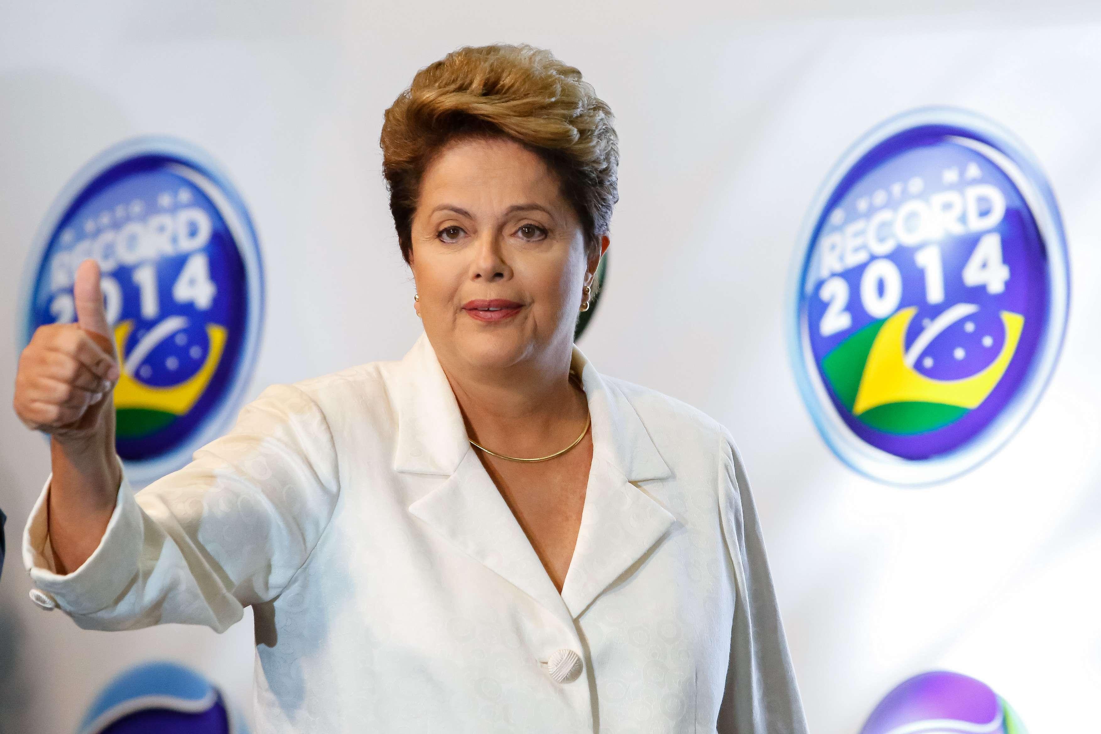Presidente citou a crise de água em São Paulo durante o debate Foto: Ichiro Guerra/Divulgação