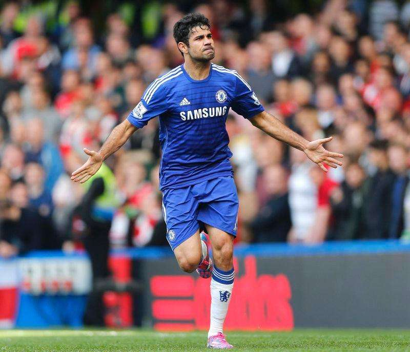 Diego Costa comemora gol do Chelsea contra o Arsenal em Londres. 5/10/2014 Foto: Stefan Wermuth/Reuters